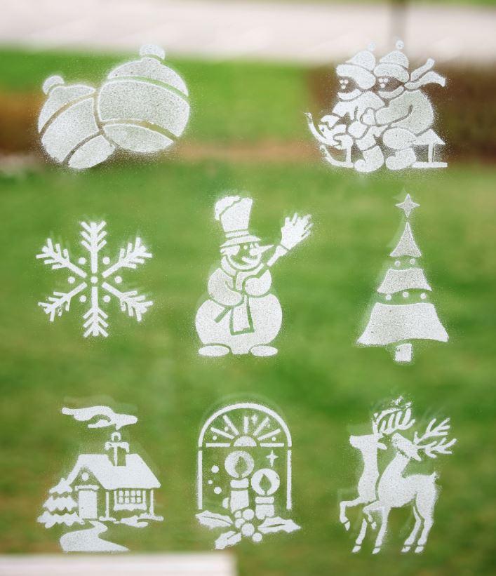 ventanas decoradas de navidad nieve artificial