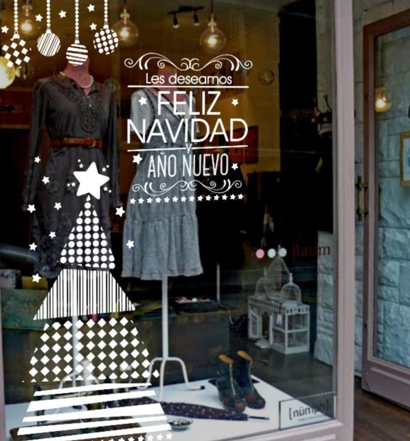vinilos decorativos para ventanas de navidad