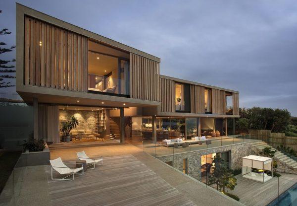 fachada casas modernas madera