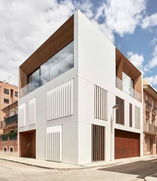 fachadas de casas de pueblo modernas