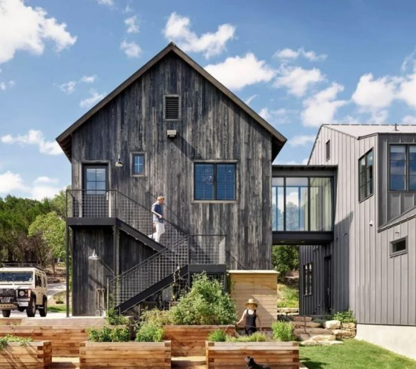 fachadas de casas modernas de tres pisos
