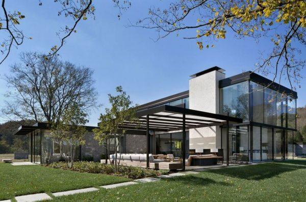 fachadas de casas modernas metalicas