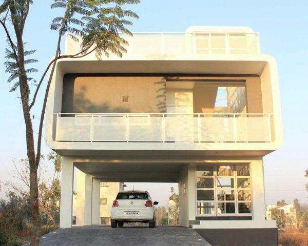 fachadas minimalistas cubistas blanco