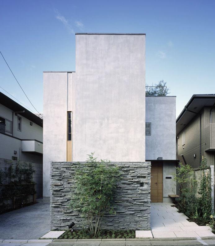 fachadas minimalistas sin ventanas