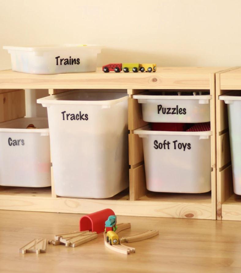ideas para organizar juguetes de niños