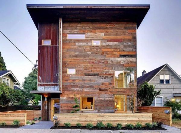materiales para fachadas madera