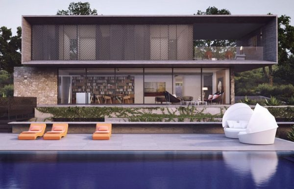viviendas unifamiliares modernas con piscina