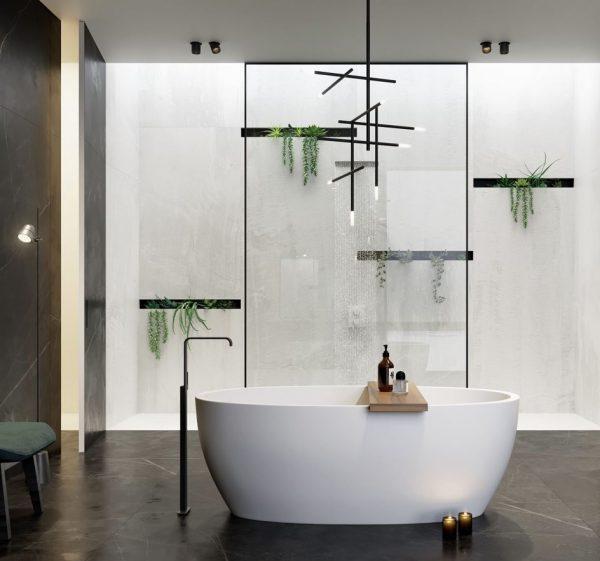 bañera lujosa moderna