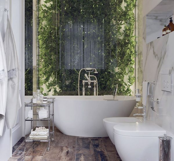 baño de lujo exterior