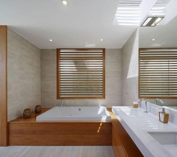 baño de lujo grandes de madera