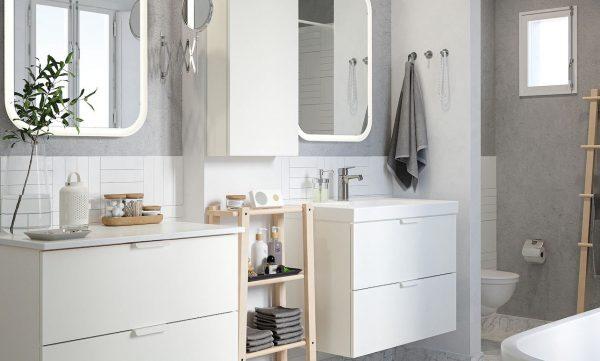 baño separado de la ducha ikea