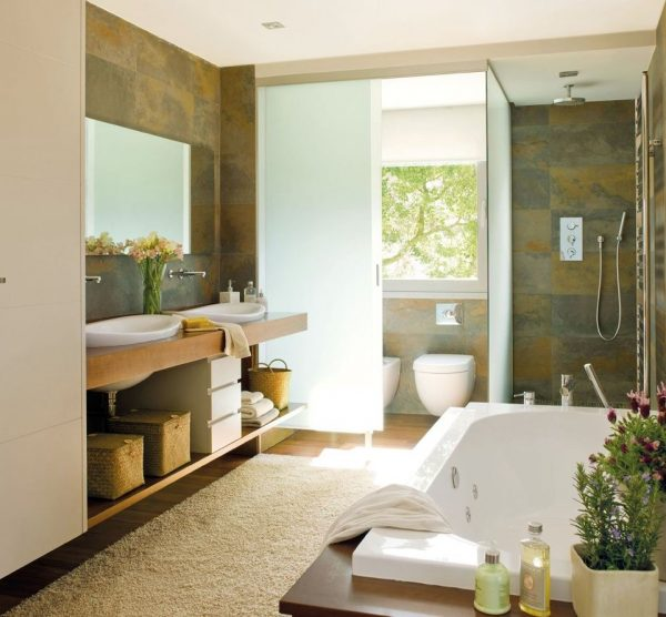 baños con zonas separadas