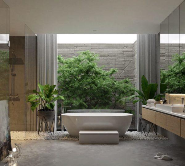 baños de lujo exteriores