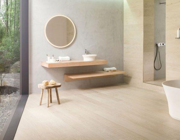 baños de lujo grandes minimalistas