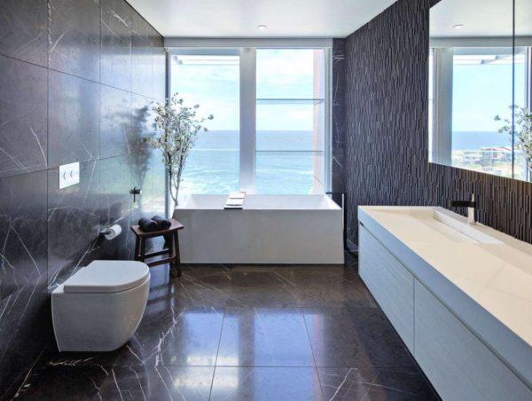 baños de mármol modernos