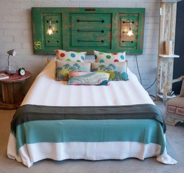 cabeceros de cama originales pintados