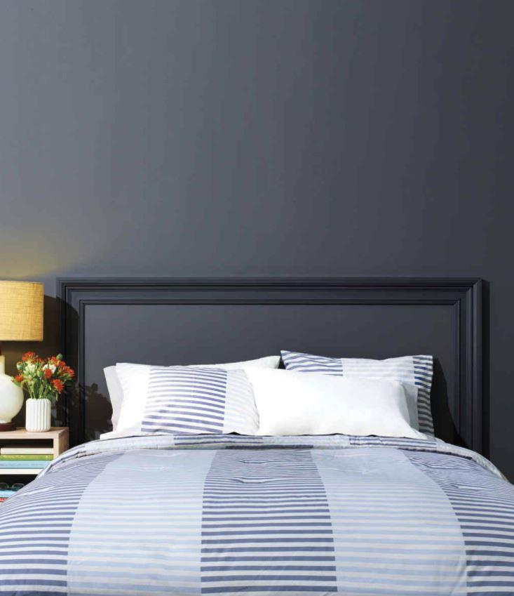 cabeceros de cama pintados en la pared