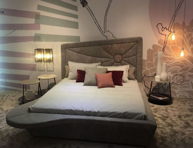 cabeceros de cama tapizados terciopelo