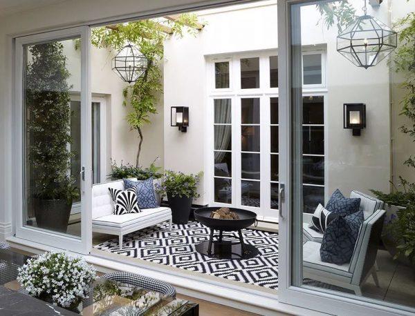 casas con patio interior acristalado