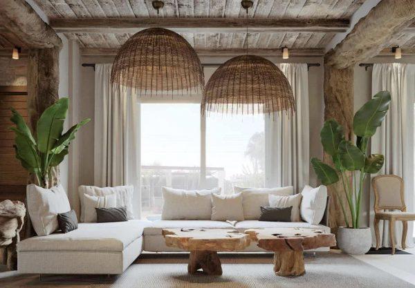 casas de campo rústicas interiores