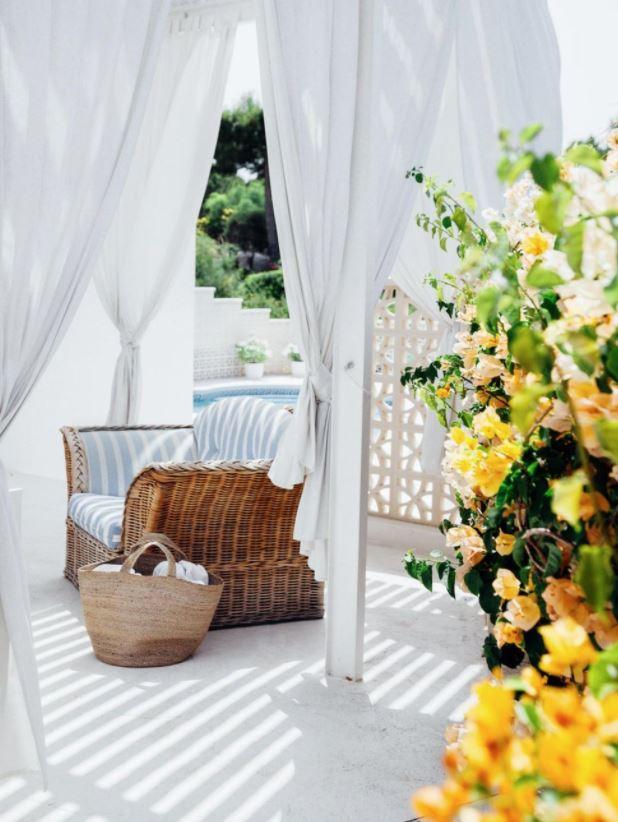 colores para pintar un patio interior