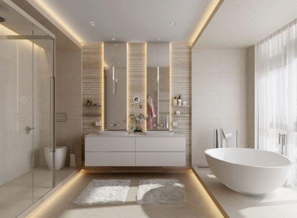 como decorar un baño estilo moderno