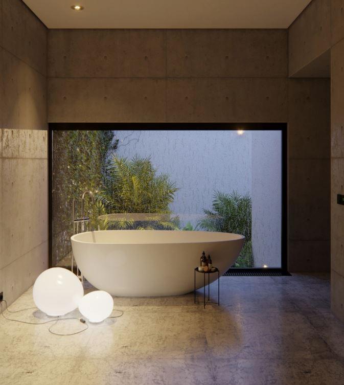 cuarto de baño para exterior