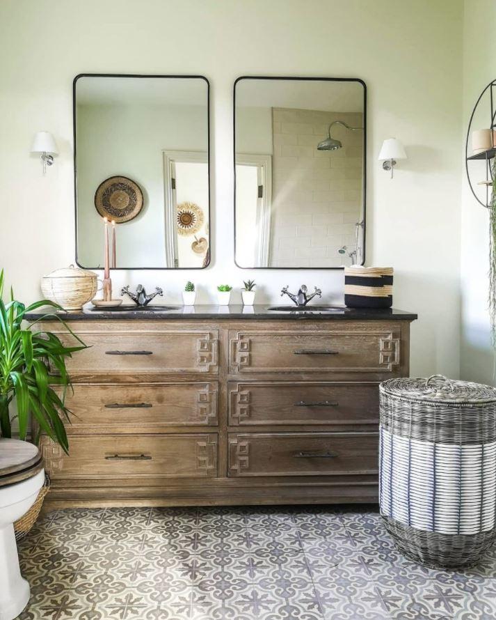 decoracion baños doble lavabo