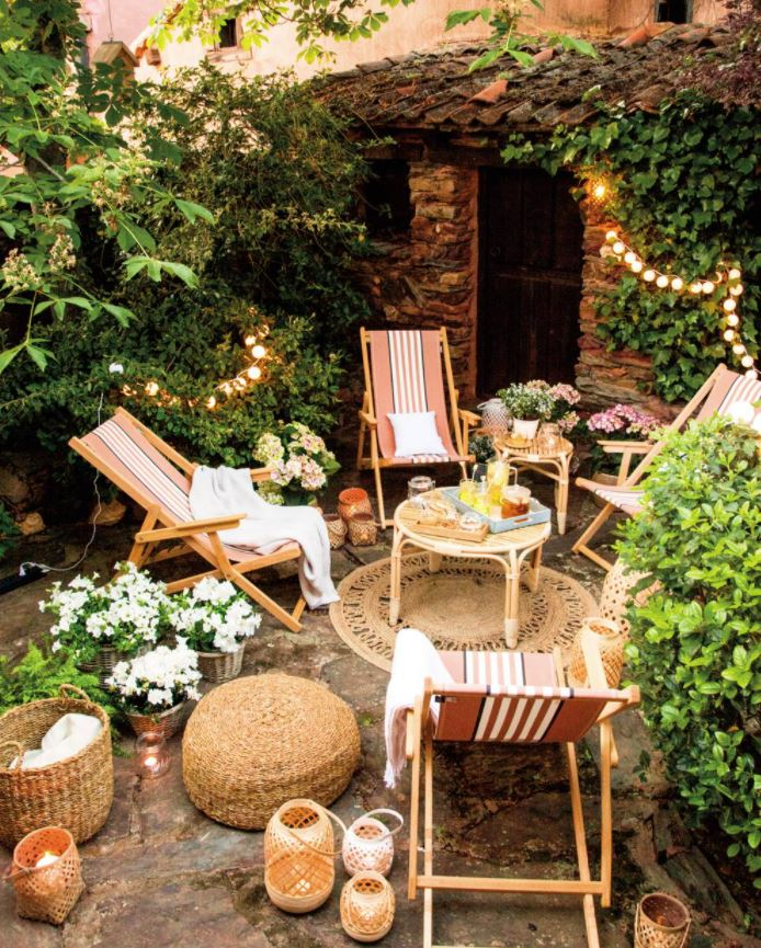decorar paredes de patios