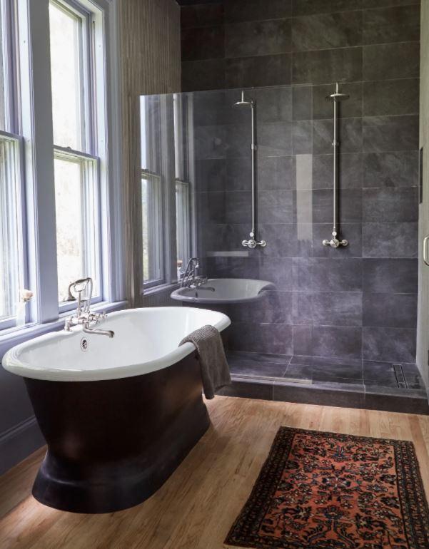 ducha y bañera juntos