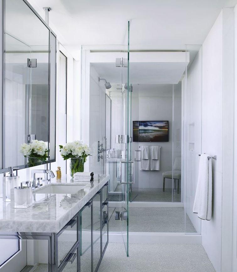 duchas modernas para baños pequeños