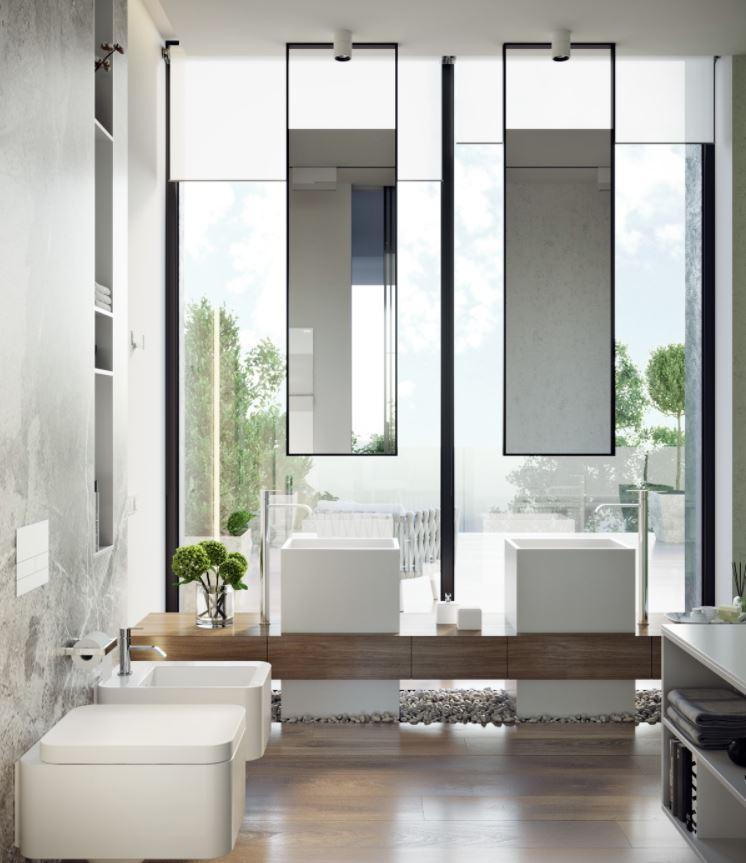 lavabo doble para baño