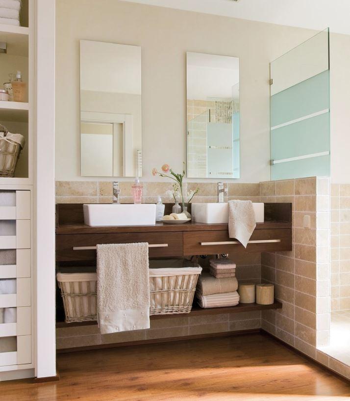 lavabos dobles con mueble
