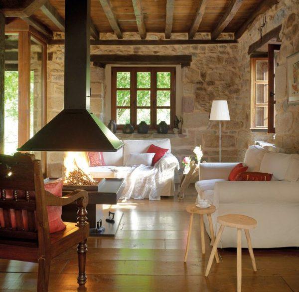 living room rustico moderno