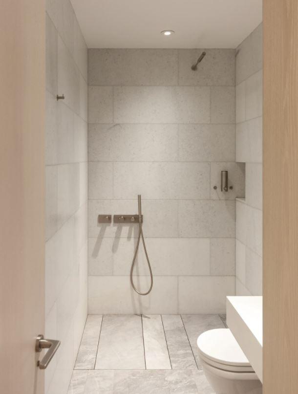 medio baño minimalista pequeño