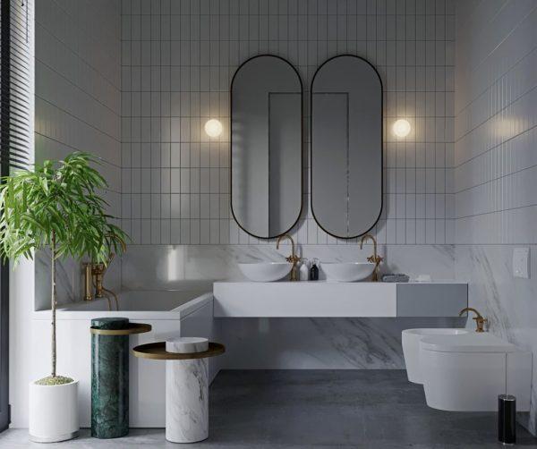 muebles de baño dos senos baratos