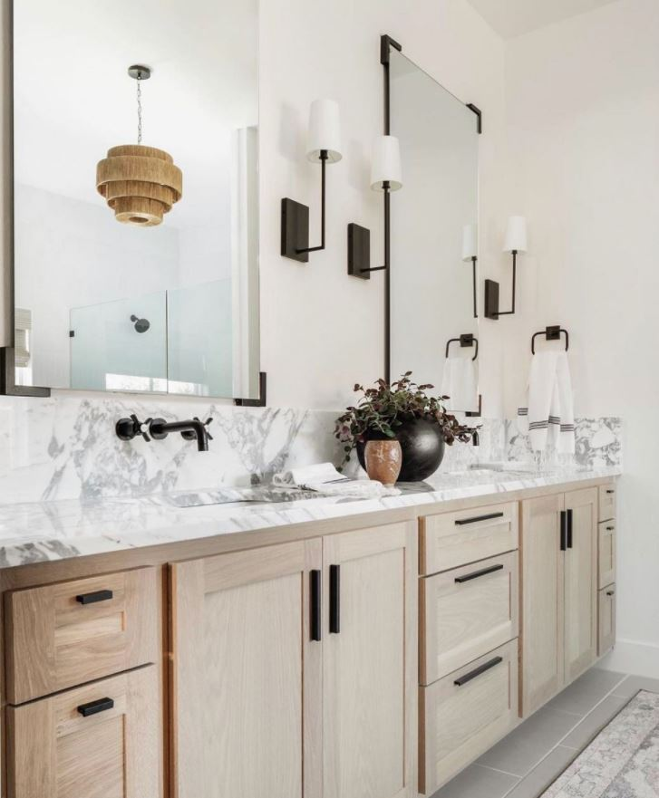 muebles dobles para baño