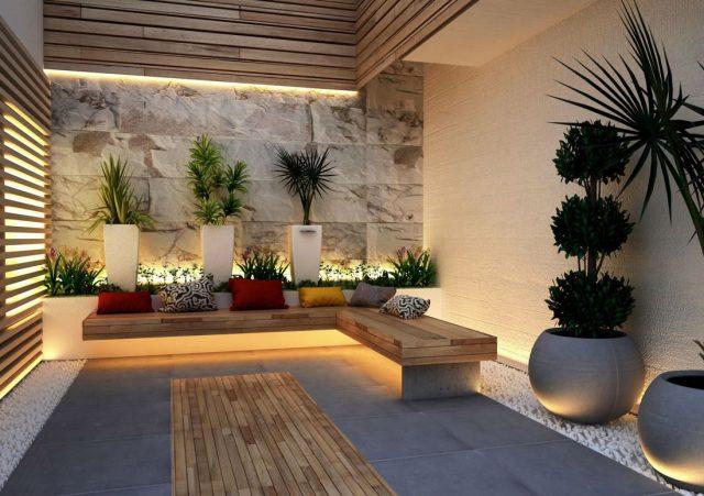 patios interiores minimalistas modernos
