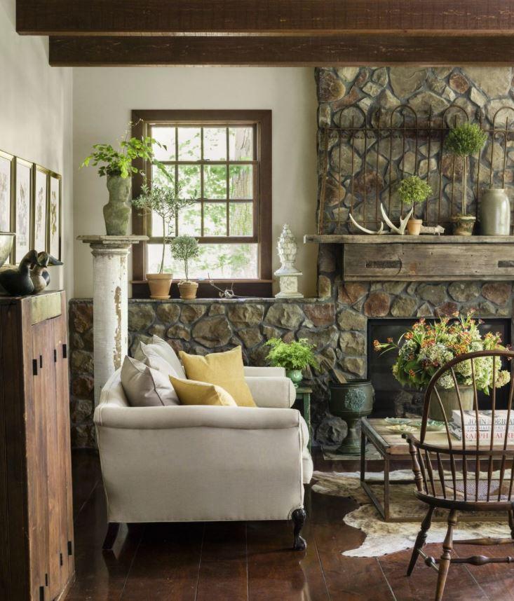 plantas para salon rustico moderno