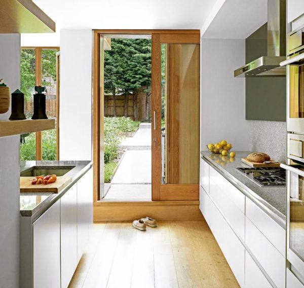 puerta corrediza de madera para cocina