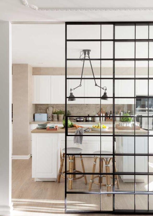 puerta cristal corredera cocina