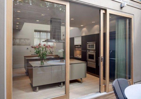 puerta de cristal para cocina