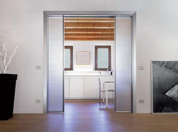 puertas dobles correderas de cristal