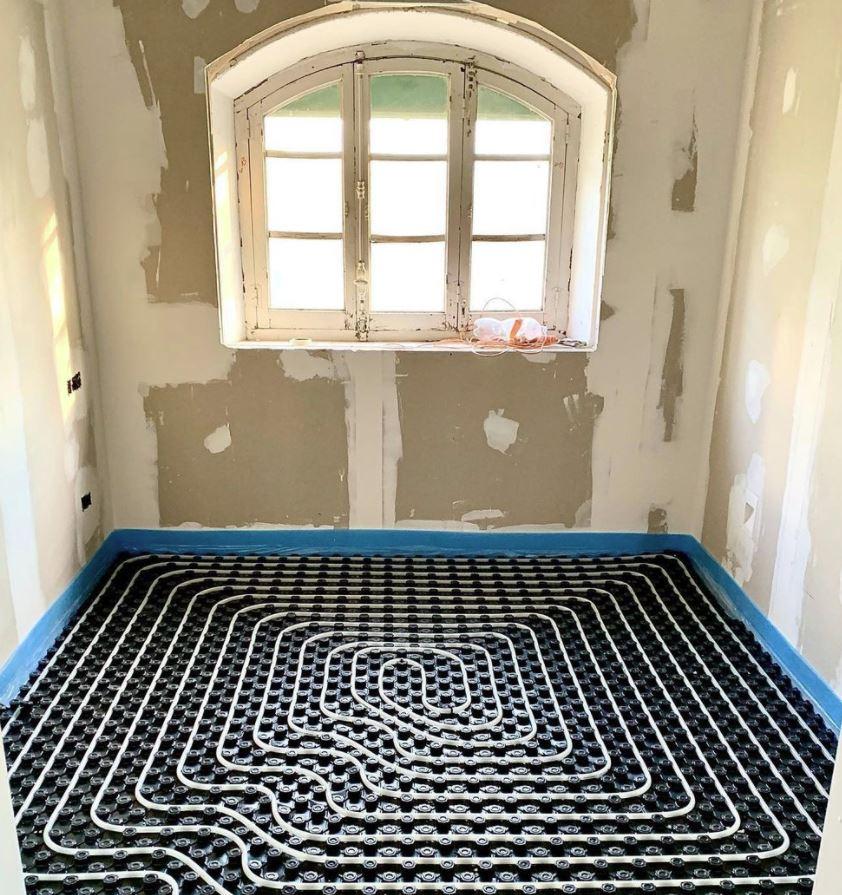 suelo radiante para baño