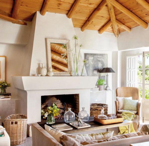 techo madera salón