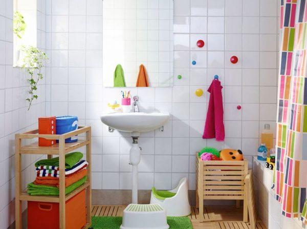baño de colores para niños