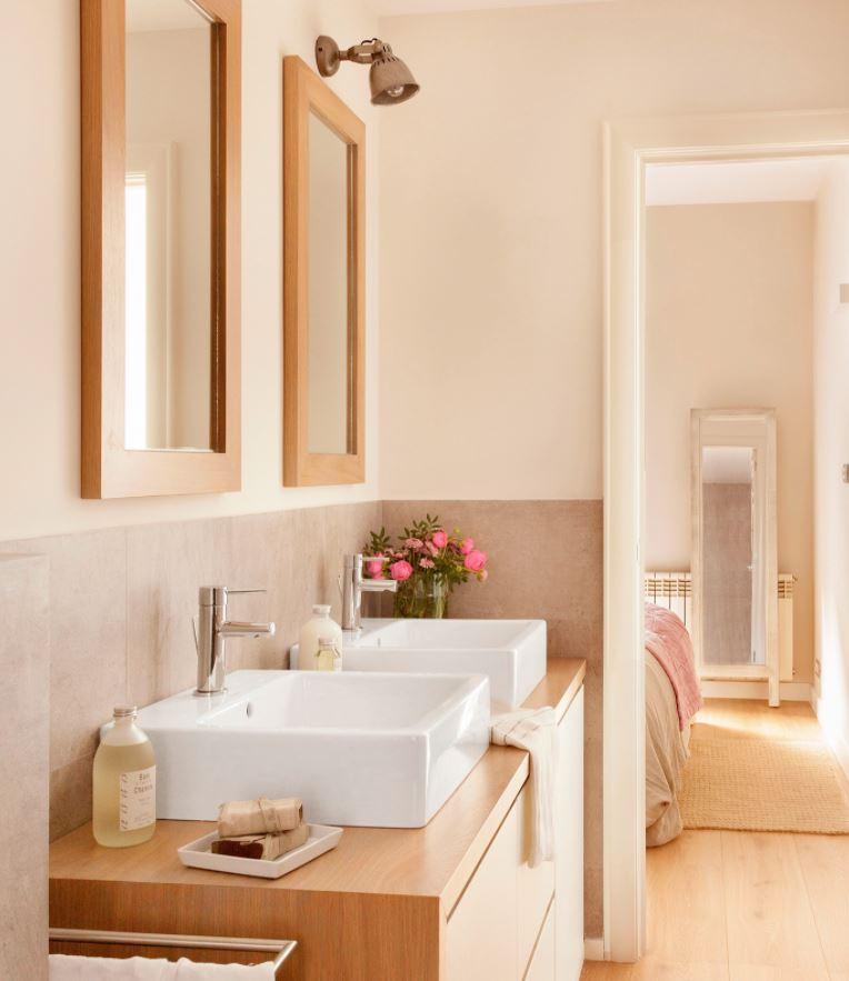 baños con dos lavabos separados