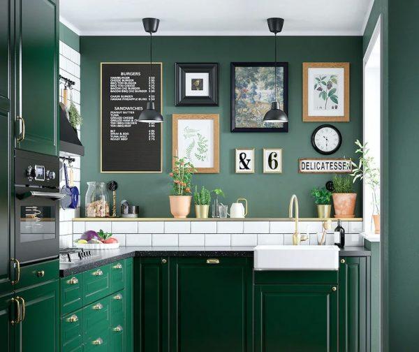 cocina rustica verde
