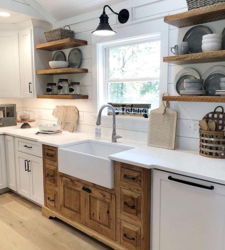 cocinas de madera rusticas decorarcongusto