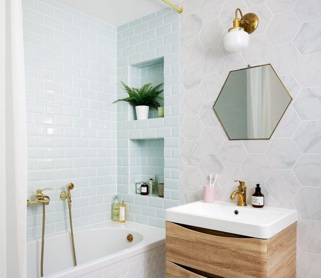 como decorar el lavabo del baño